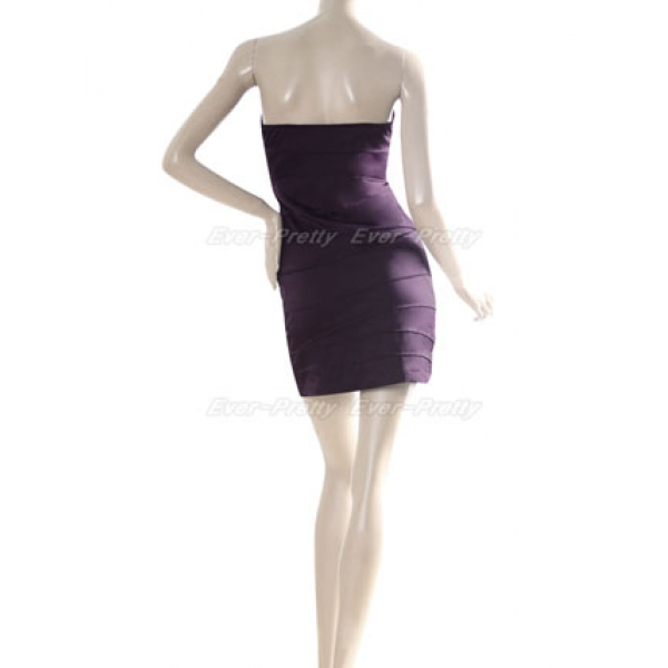 SALE! Purple strapless dress. Артикул: IXI16073
