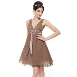 РАСПРОДАЖА! Сексуальное вечернее платье цвета шоколада - Вечерние платья