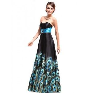 Long evening dress with print