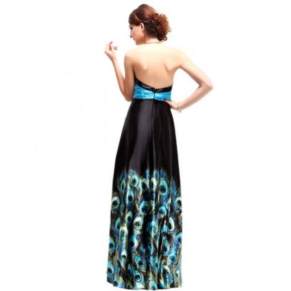 Long evening dress with print. Артикул: IXI16079