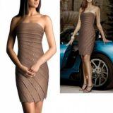 Elegant evening dress tiered