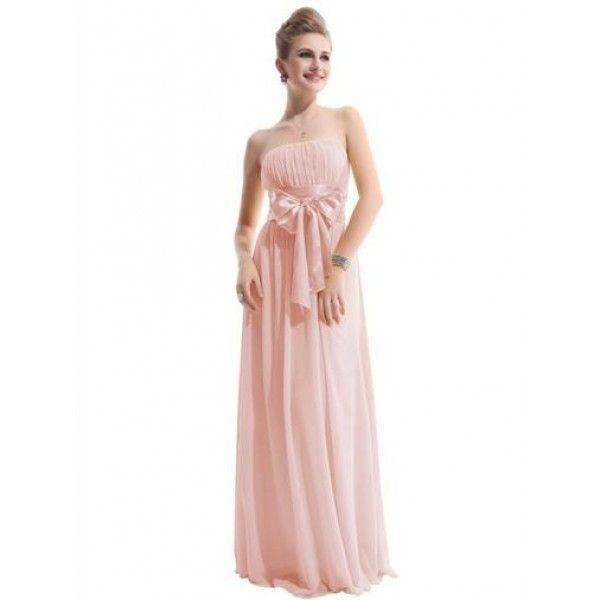 Сексуальное розовое длинное вечернее платье