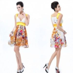 Elegant dress with floral print