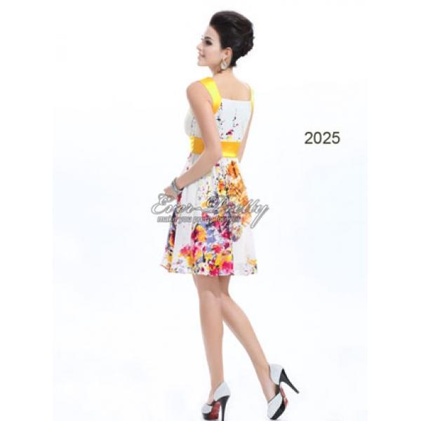 Elegant dress with floral print. Артикул: IXI16083
