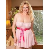 Playful, pink negligee
