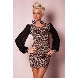 Модное леопардовое мини-платье по оптовой цене
