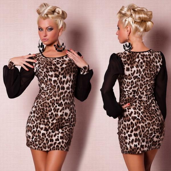 Леопардовые платья купить магазин