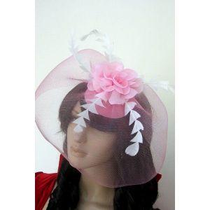 Розовая шляпка с вуалью - Шляпки, шапки