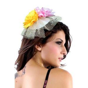 Цветочная мини-шляпка - Шляпки, шапки
