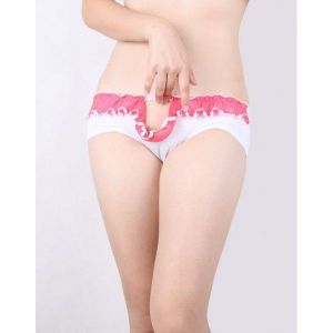 Charming panties with lace insert