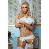 Белый кружевной пояс с подвязками цена фото