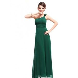 РАСПРОДАЖА! Шифоновый вечерний няряд зеленого цвета - Вечерние платья