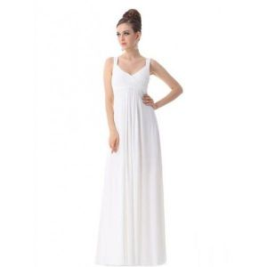 Evening long dress white