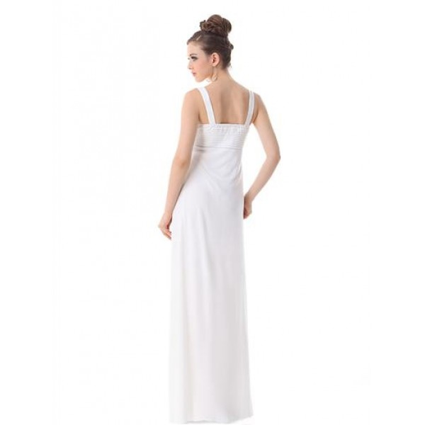 Evening long dress white. Артикул: IXI16379