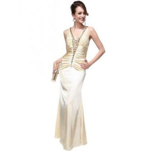 Gorgeous evening dress with V-neck
