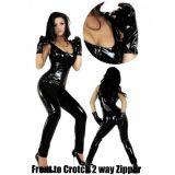 Виниловый черный костюм с перчатками по оптовой цене