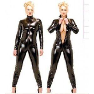Сексапильный виниловый костюм с молнией - Одежда (латекс, винил)