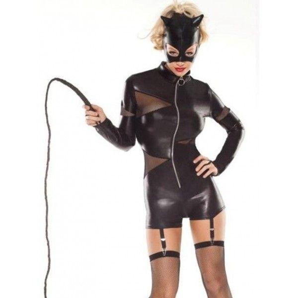Виниловый костюм - Дикая киска