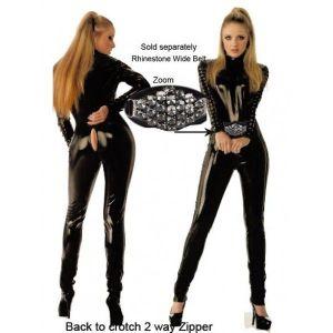 Откровенный черный костюм - Одежда (латекс, винил)