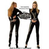 Откровенный черный костюм по оптовой цене