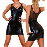 Disco - платье из винила черное