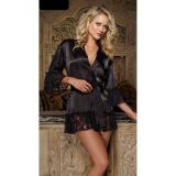 Stylish black robe