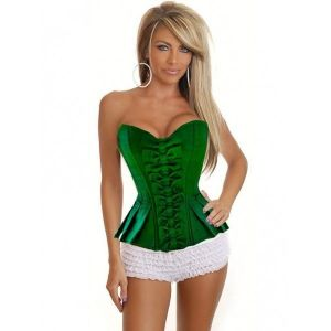 Green corset with bow