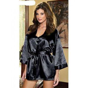 Черный халатик - Халаты, пижамы