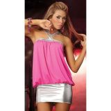 Розовое клубное платье по оптовой цене
