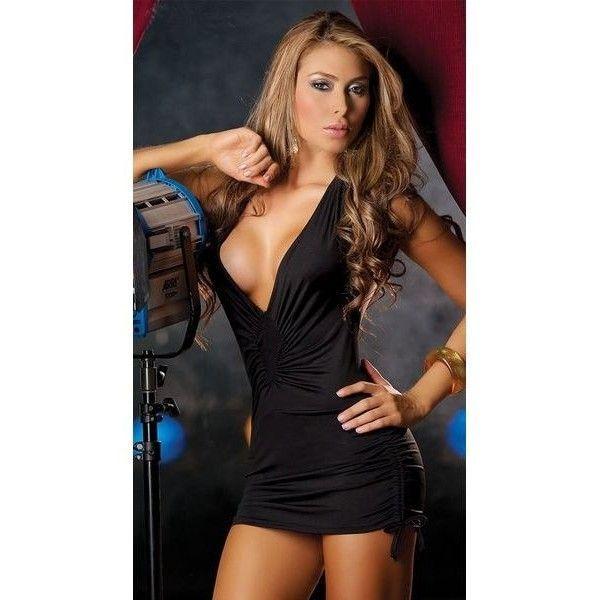 Сексуальное клубное платье с откровенным вырезом декольте