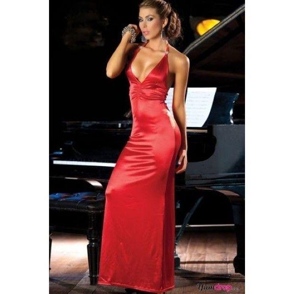 Купить онлайн Вечернее коктейльное платье с V-образным вырезом спереди и сзади фото цена акция распродажа