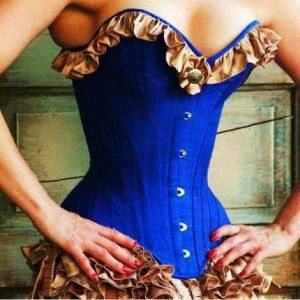 SALE! Excellent corset blue