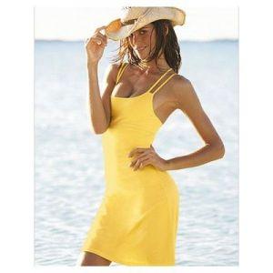 Пляжная туника лимонного цвета - Пляжная одежда