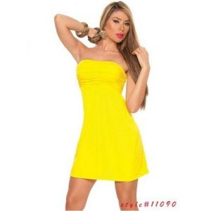 Cute dress bright yellow