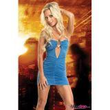 Голубое платье-мини по оптовой цене