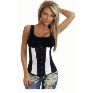 SALE! Inframammary corset black and white. Артикул: IXI16963