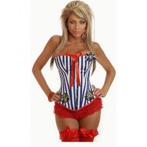 Marine corset with bows