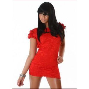 Elegant evening dress red. Артикул: IXI17143