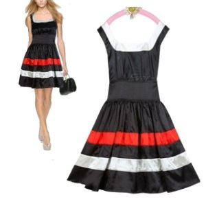 Little black pleated dress