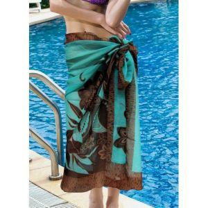 Голубой саронг - Пляжная одежда