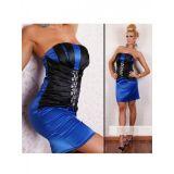 Сексуальное синее мини платье