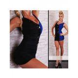 Сексуальное черное мини платье с элементами драпировки