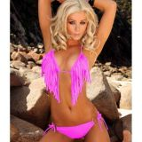 Pink juicy swimsuit with fringe