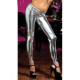 Vinyl leggings silver