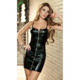 Смелое черное платье с молнией по оптовой цене