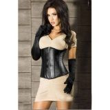 Corset black with zipper