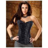Classic black luxury corset.