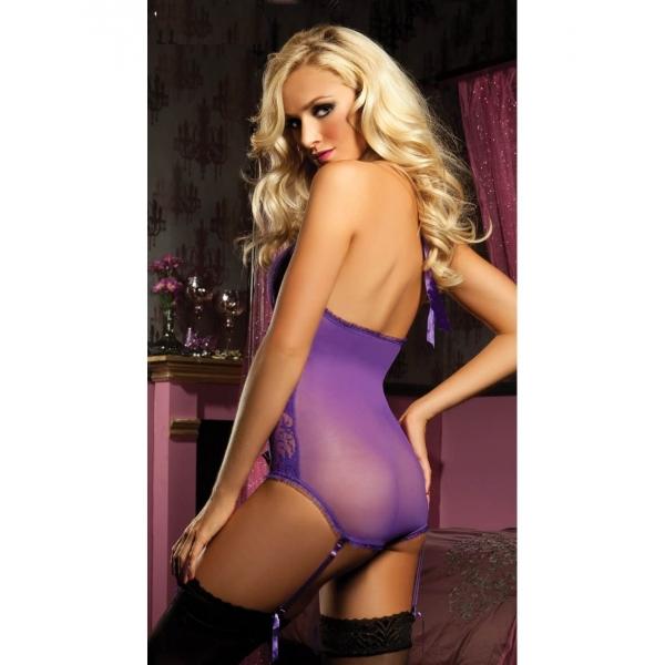 Purple combipres with garters. Артикул: IXI17805