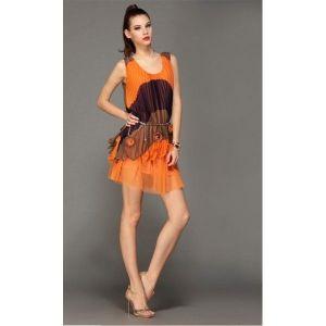 Stylish orange sundress. Артикул: IXI17991