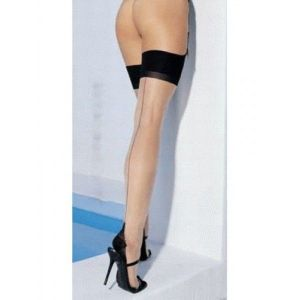 Corporal stockings with vertical seam